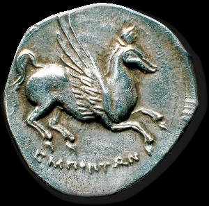 Pegasus Greek coin